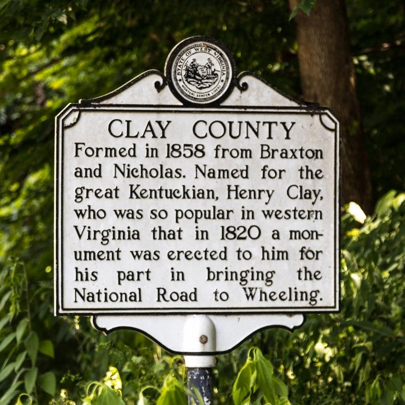 Clay County side of marker image. Click for full size.