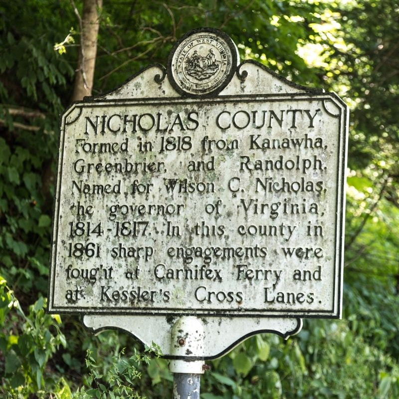 Nicholas County side of marker image. Click for full size.