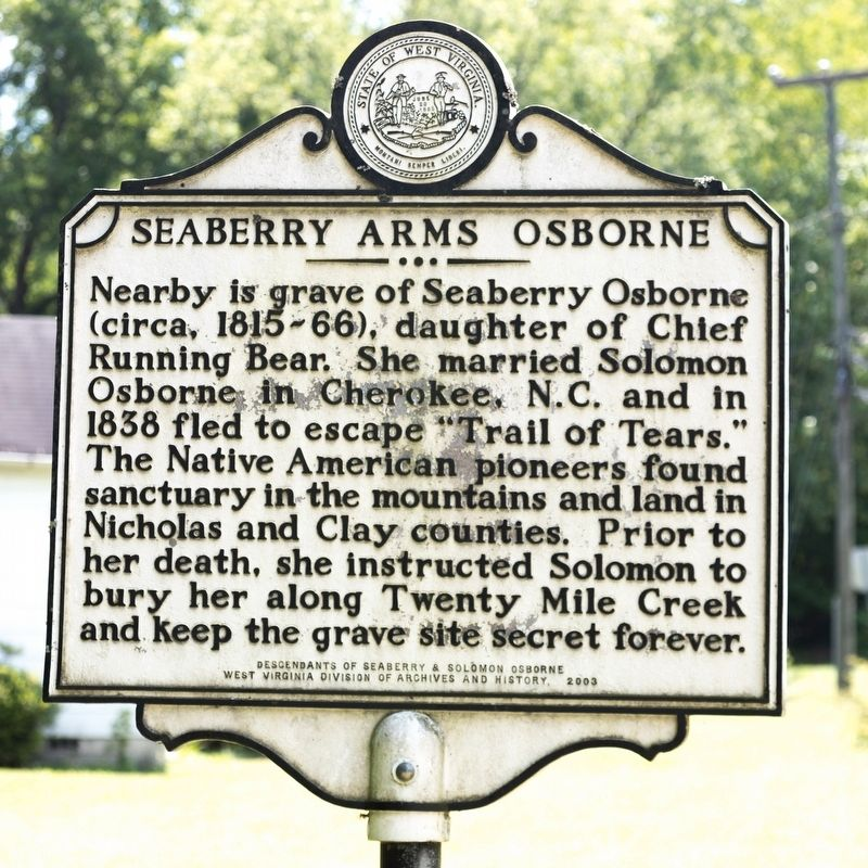 Seaberry Arms Osborne Marker image. Click for full size.