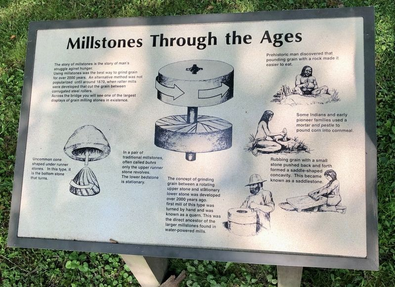 Millstones Through The Ages Marker image. Click for full size.