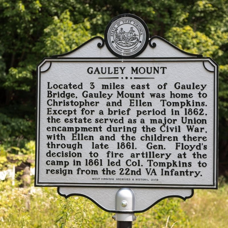Gauley Mount side of marker image. Click for full size.