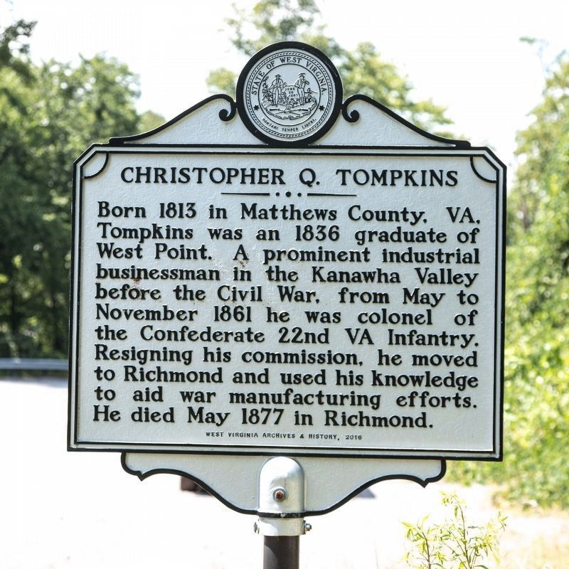 Christopher Q. Tompkins side of marker image. Click for full size.