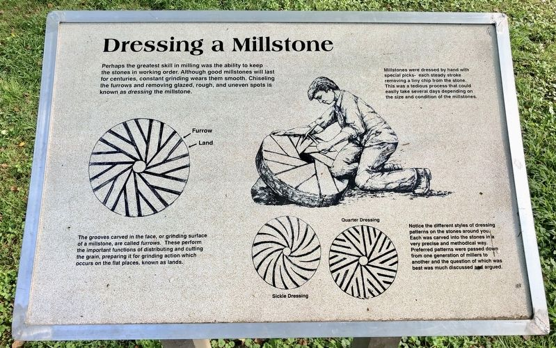 Dressing a Millstone Marker image. Click for full size.