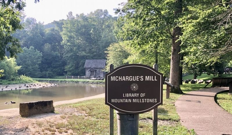 The largest collection of old millstones in the U.S. at this park. image. Click for full size.