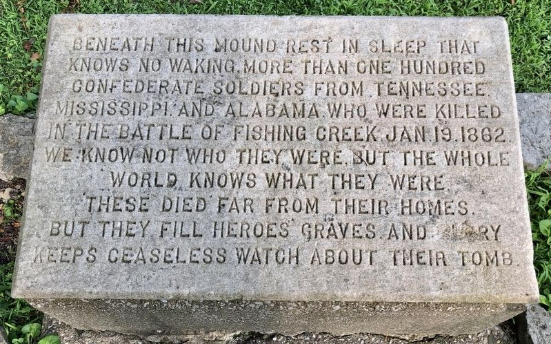 Confederate Mass Grave Memorial image. Click for full size.