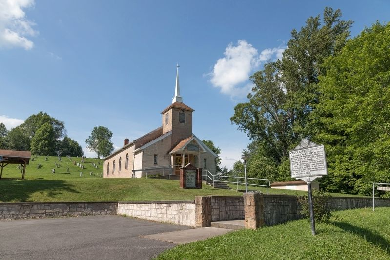 Zoar Baptist Church and Marker image. Click for full size.
