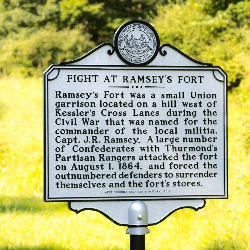 Fight At Ramsey's Fort Marker image. Click for full size.