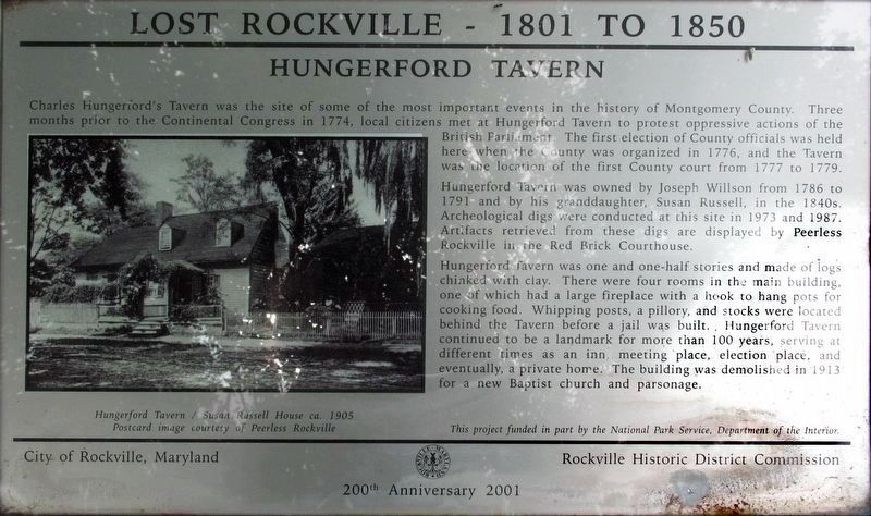 Hungerford Tavern Marker image. Click for full size.
