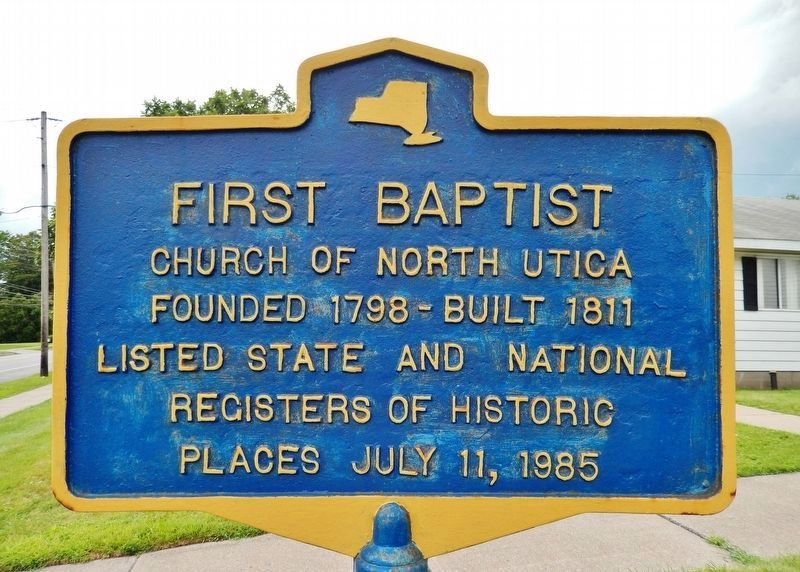 First Baptist Marker image. Click for full size.