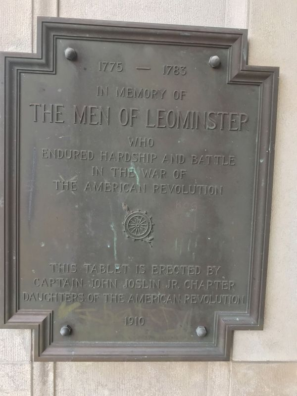 In memory of the men of Leominster Marker image. Click for full size.