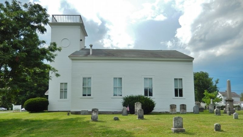 First Baptist Church (<i>west side & cemetery</i>) image. Click for full size.