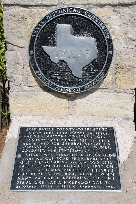 Somervell County Courthouse Marker image. Click for full size.