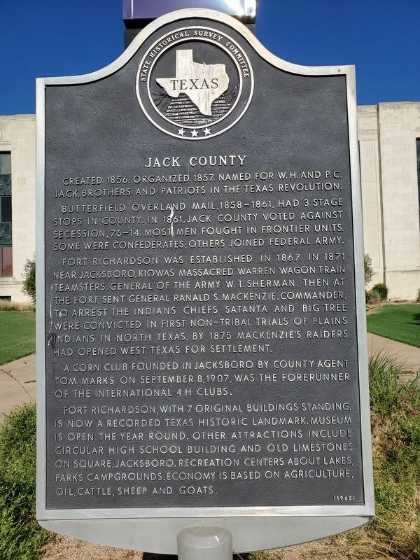 Jack County Marker image. Click for full size.