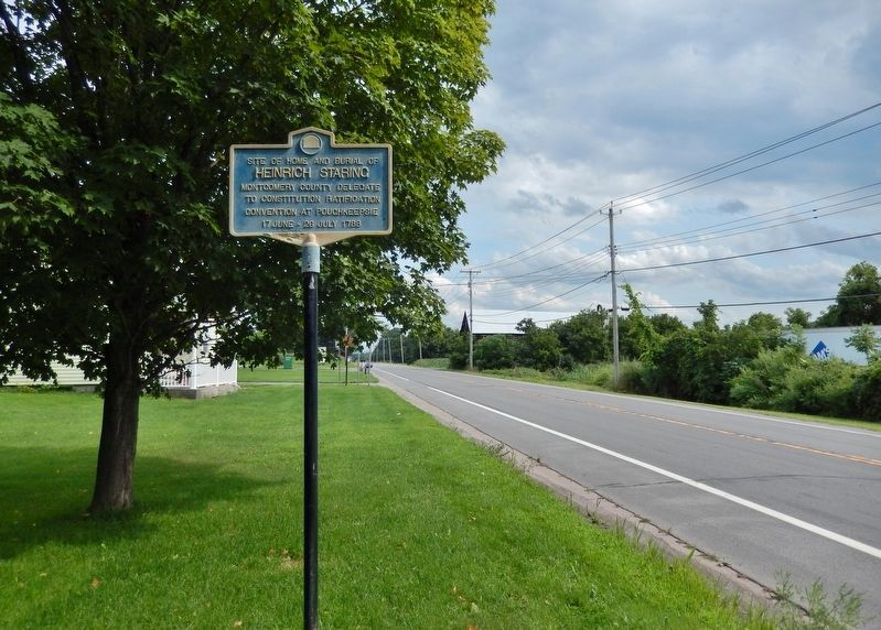 Heinrich Staring Marker<br>(<i>wide view looking east along New York Route 5</i>) image. Click for full size.