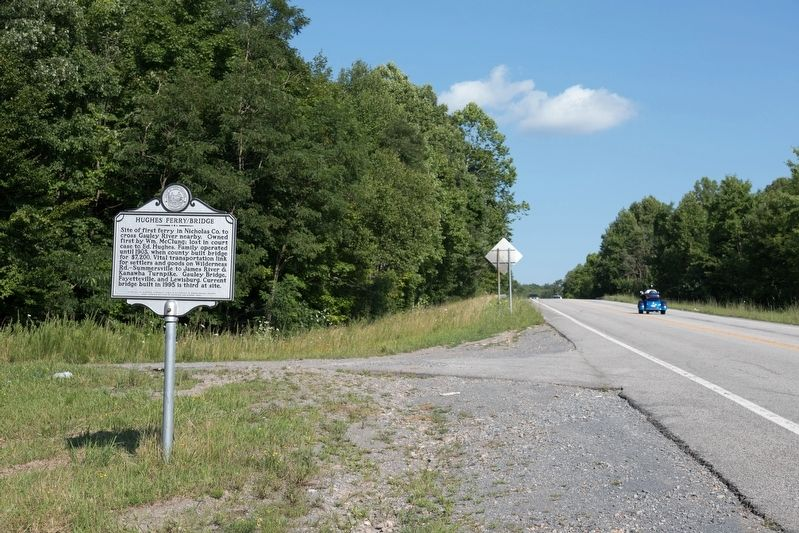 Hughes Ferry/Bridge Marker image. Click for full size.