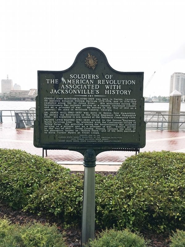 Soldiers of The American Revolution Associated with Jacksonville's History Marker image. Click for full size.