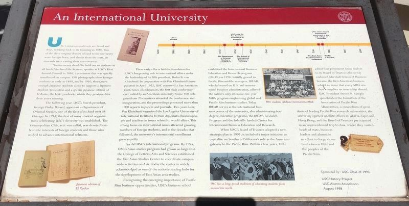 An International University Marker image. Click for full size.