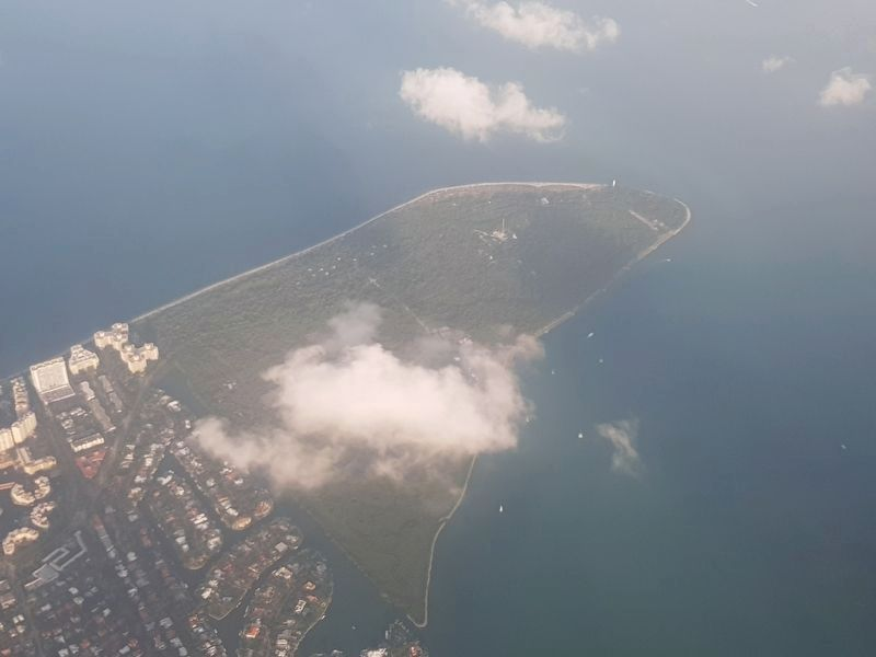 An aerial view of Bill Baggs Cape Florida State Park image. Click for full size.