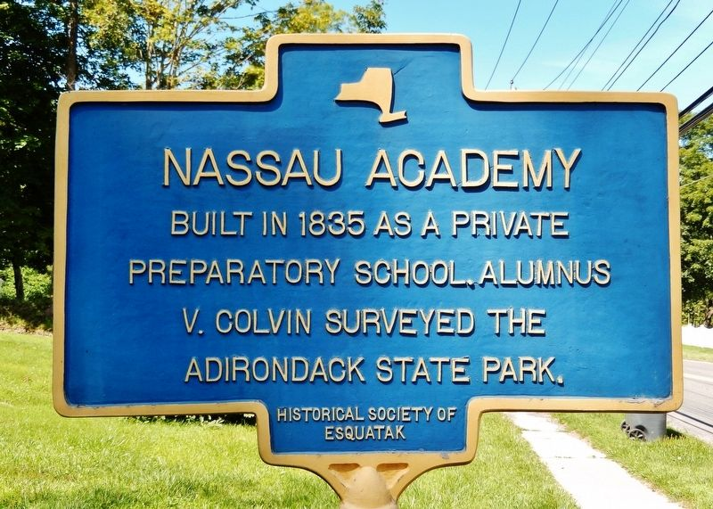 Nassau Academy Marker image. Click for full size.
