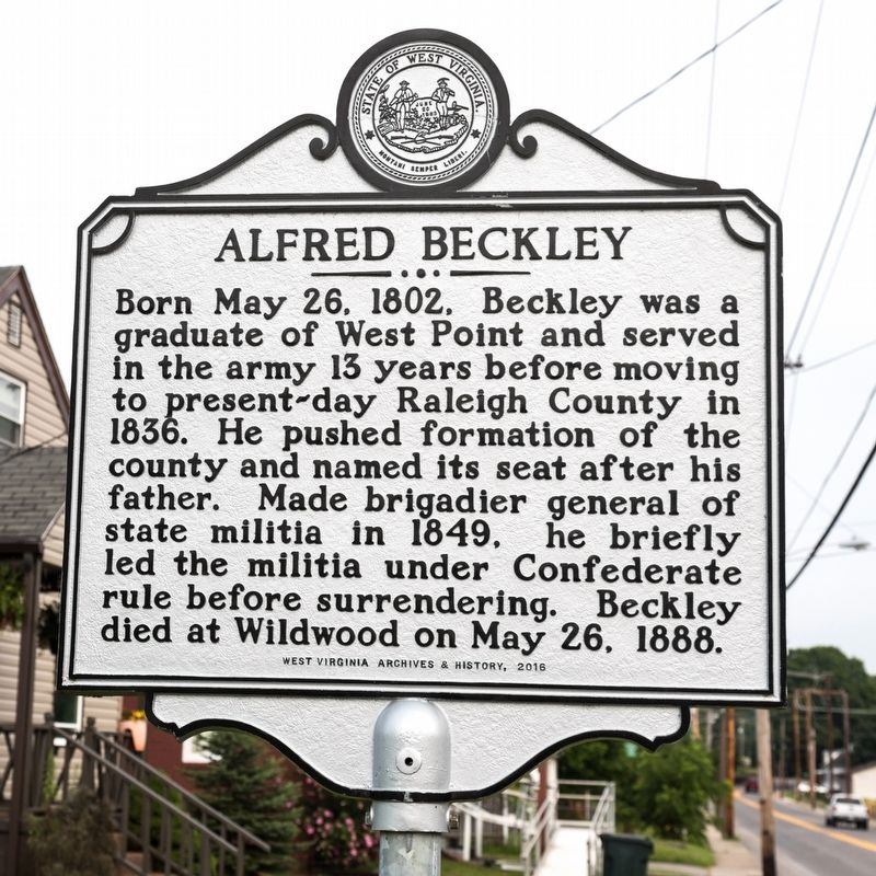 Alfred Beckley side of marker image. Click for full size.