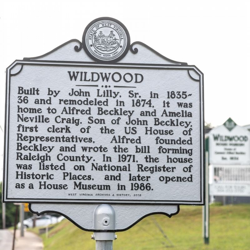 Wildwood side of marker image. Click for full size.