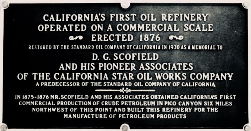 Pioneer Oil Refinery Marker image. Click for full size.