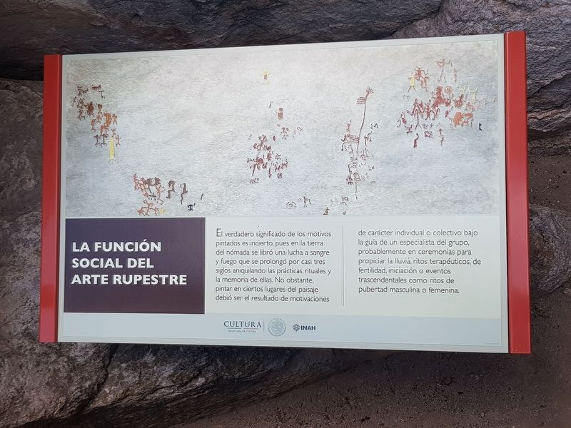 The Social Function of Rock Art Marker image. Click for full size.