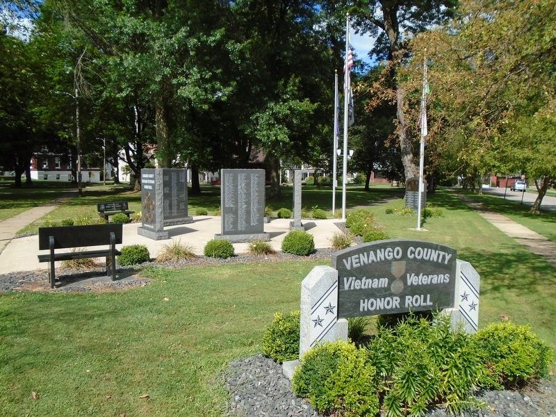 Venango County Vietnam Veterans Honor Roll image. Click for full size.