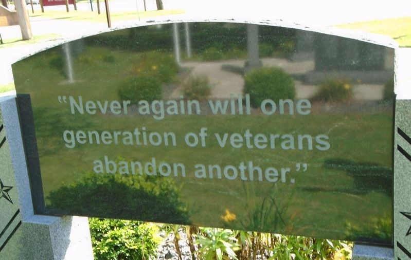 Venango County Vietnam Veterans Honor Roll Epitaph image. Click for full size.