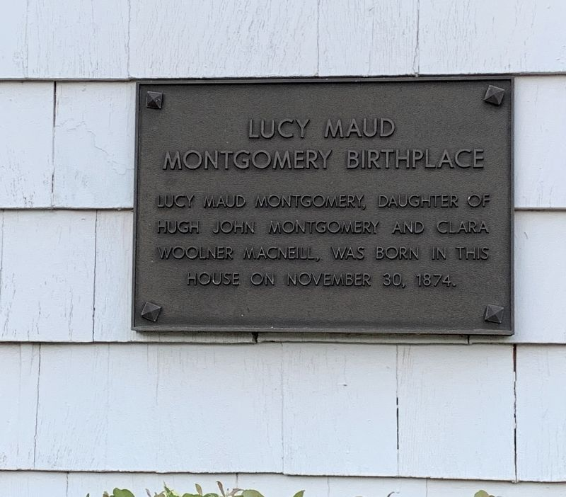 Lucy Maud Montgomery Birthplace Marker image. Click for full size.