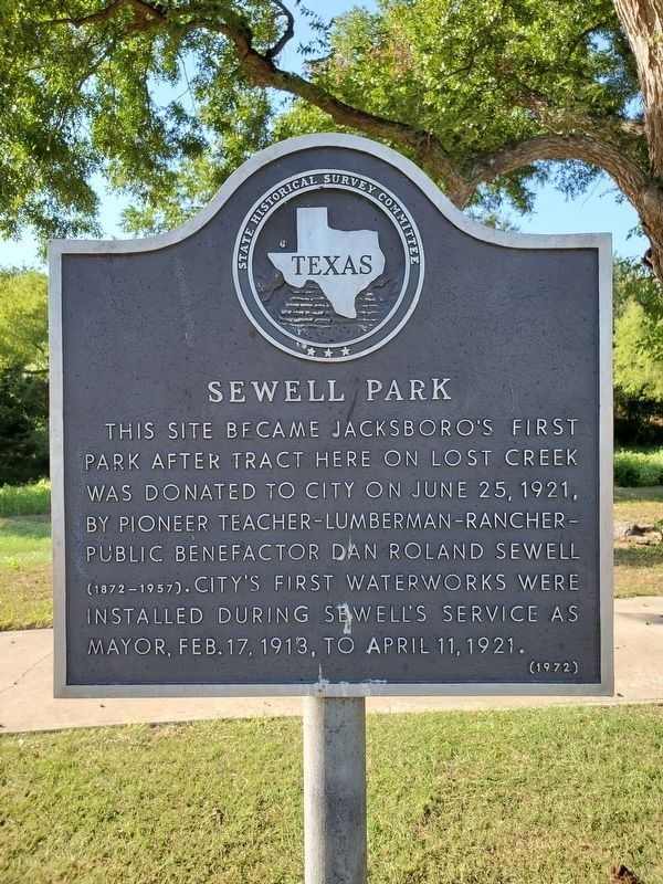 Sewell Park Marker image. Click for full size.