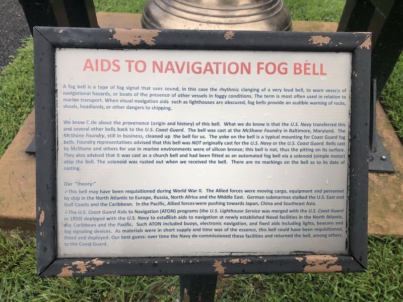 Aids to Navigation Fog Bell Marker image. Click for full size.