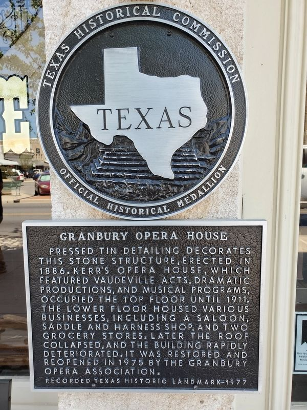 Granbury Opera House Marker image. Click for full size.
