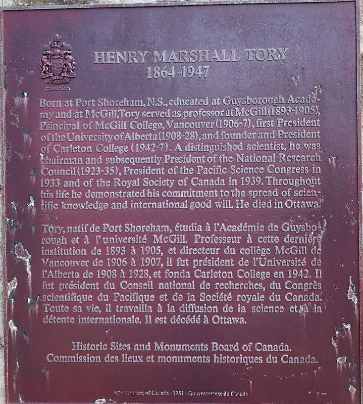 Henry Marshall Tory Marker image. Click for full size.
