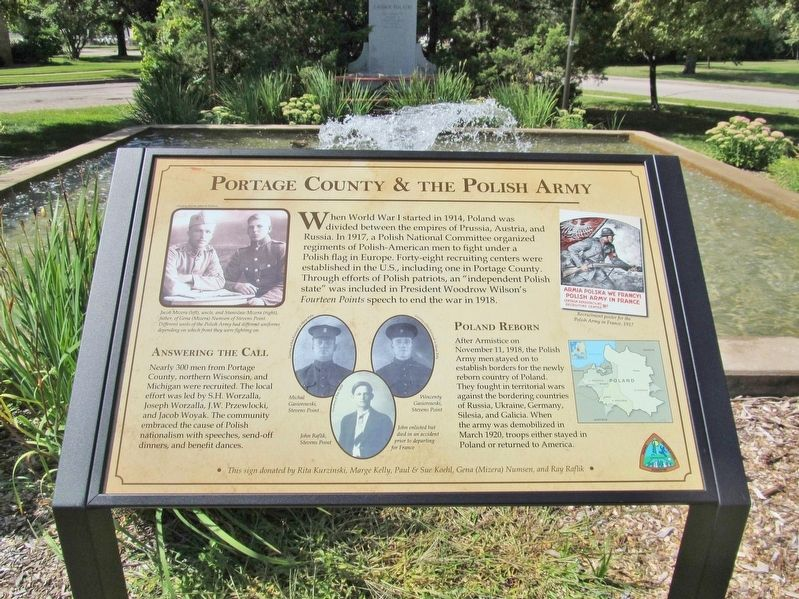 Portage County & the Polish Army Marker image. Click for full size.