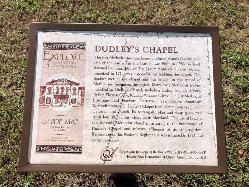 Dudley's Chapel Marker image. Click for full size.