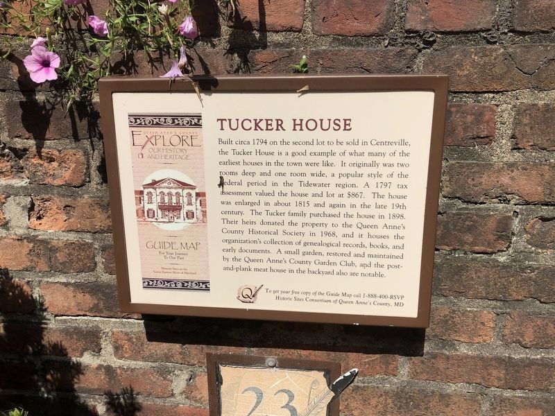 Tucker House Marker image. Click for full size.