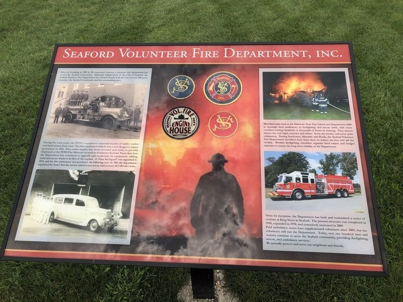 Seaford Volunteer Fire Department, Inc. Marker image. Click for full size.