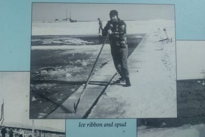 Ice Harvesting Marker - lower center image image. Click for full size.