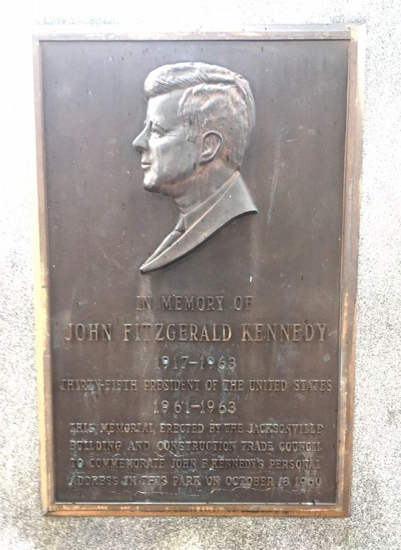 John Fitzgerald Kennedy Marker image. Click for full size.