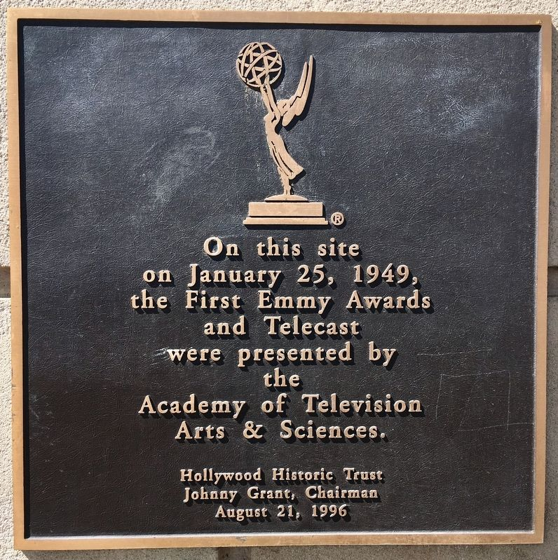 First Emmy Awards Marker image. Click for full size.