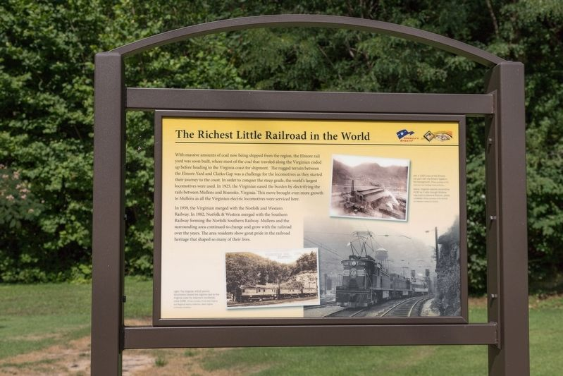 The Richest Little Railroad in the World Interpretive Panel image. Click for full size.