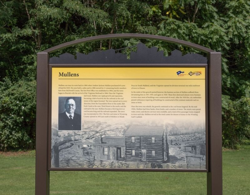 Mullens Interpretive Panel image. Click for full size.