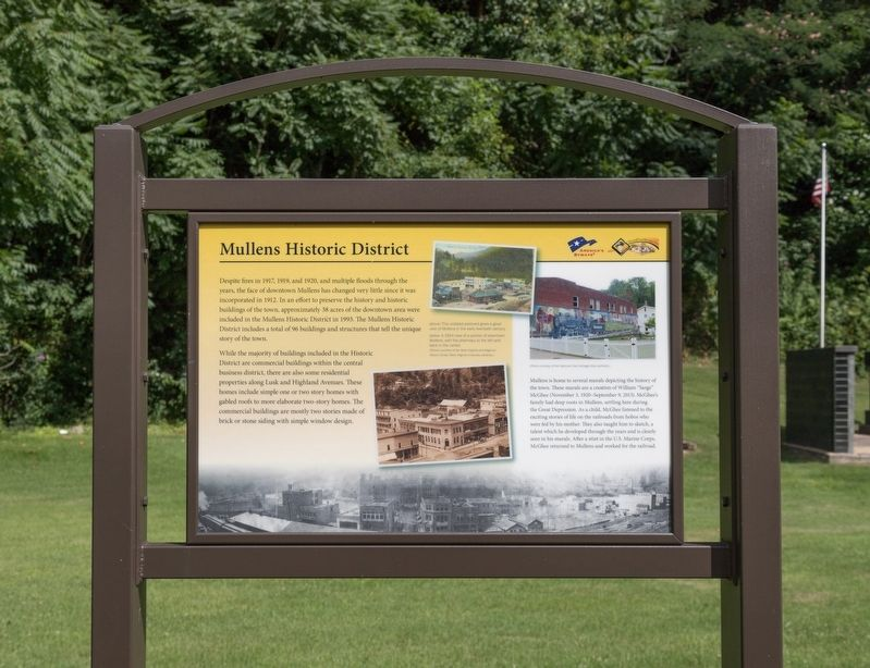 Mullens Historic District Marker image. Click for full size.
