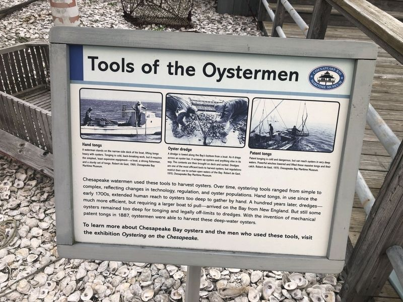 Tools of the Oystermen Marker image. Click for full size.