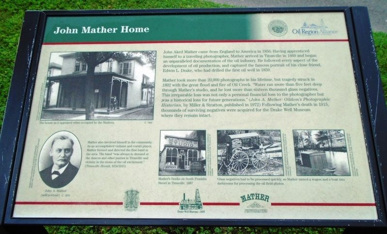 John Mather Home Marker image. Click for full size.