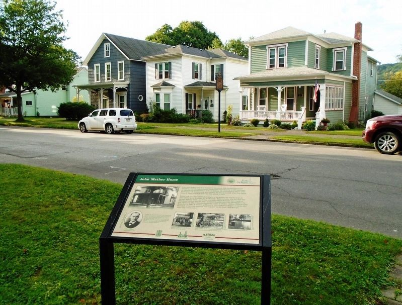 John Mather Home and Marker image. Click for full size.
