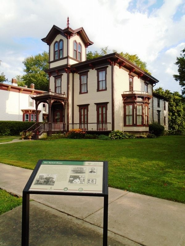 The Tarbell House and Marker image. Click for full size.