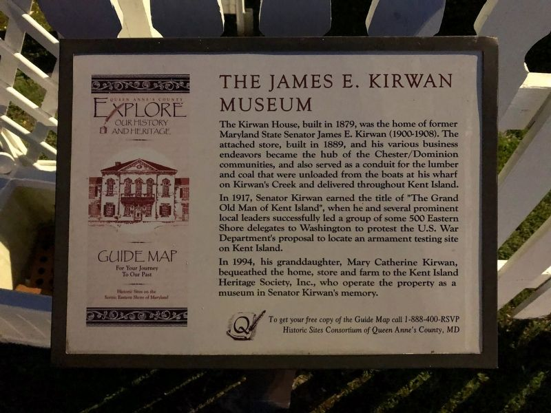 The James E. Kirwan Museum Marker image. Click for full size.