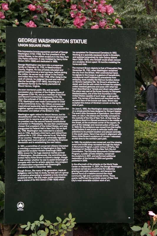 George Washington Statue Marker image. Click for full size.